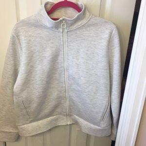Tops - Preppy style zip sweatshirt